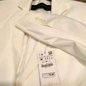 Zara -long sleeve white blazer